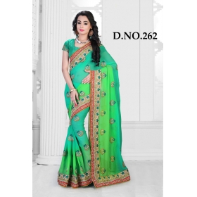 D No-262 Bridal Wear  – Heavy Designer Season Special Sarees