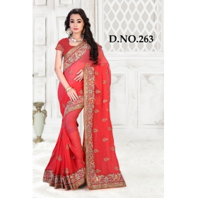 D No-263 Bridal Wear  – Heavy Designer Season Special Sarees