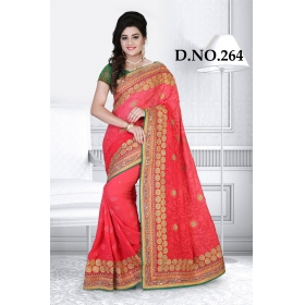 D No-264 Bridal Wear  – Heavy Designer Season Special Sarees