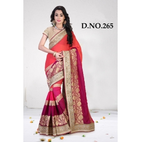D No-265 Bridal Wear  – Heavy Designer Season Special Sarees