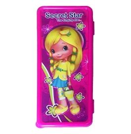Barbie Printed Pencil Box Kids - Pink (Large)