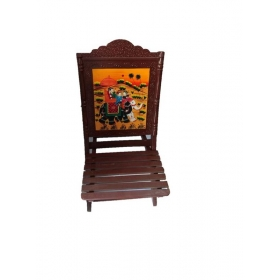 Handicraft Wooden Folding Chairs - 38 Inch Height - For Living Room Decor And Gifts