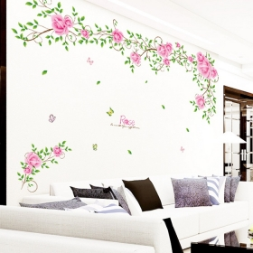 Lc9007 Pink Tree Nature Wall Sticker  Jaamso Royals