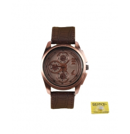 Rise N Shine Copper Dial Dummy Chronograph Men's Analouge Watch
