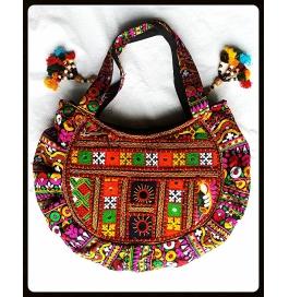 Handicraft Kutchi  Multi Color Purse