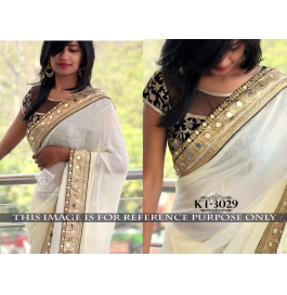 Sas Creations Fab Superb Georgette Multi Saree