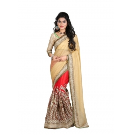 Sas Creations Best Georgette Cream Saree