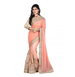 Sas Creations Best Best Georgette Pink Saree