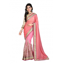 Sas Creations Best Primo Georgette Pink Saree