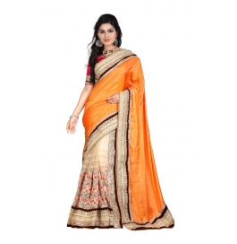 Sas Creations Best Grand Georgette Yellow Saree