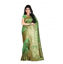 Sas Creations Primo Best Silk Green Saree
