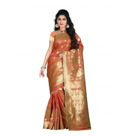 Sas Creations Dazzling Silk Cream Saree