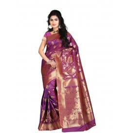 Sas Creations Peachy Silk Red Saree