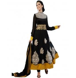 Black Color Embroidered Designer Anarkali Suit