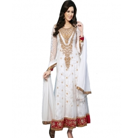 White Color Embroidered Designer Anarkali Suit