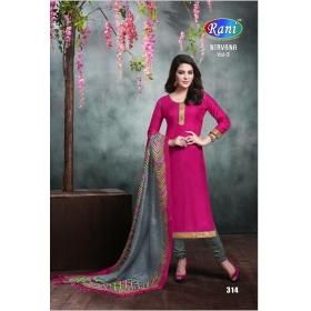 Bhagalpuri Office / Daily Wear Unstitched Salwar Suit &8211; 314