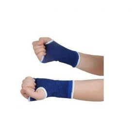 Elastic Palm Wrist Glove Hand Grip Support Protector Brace Sleeve Support (free Size, Blue)