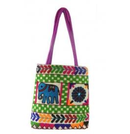 Handicraft Kutchi Purple Sling Bags