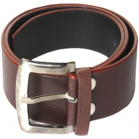 Men Brown Artificial Leather Belt
