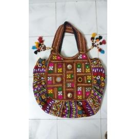 Handicraft Kutchi Green Sling Bags