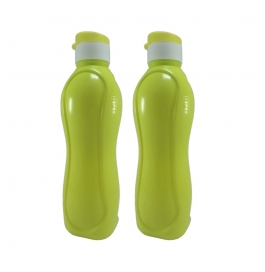 Jimit Fliptop 1000 Ml Plastic Bottle (pack Of 2, Green)