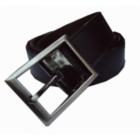 Men Formal Black Genuine Leather Belt