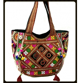 Handicraft Kutchi Multicolor Sling Bags