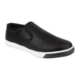Sarva Mens Casual Shoes Snack Black