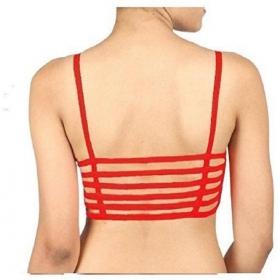 Kavjay Women's Bralette Red Bra