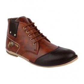 Sarva Mens High Neck Shoes