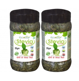 Zindagi Stevia Dried Leaves-natural & Pure Stevia Leaf-sugarfree Sweetener (pack Of 2)