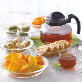 Glass Snack Set