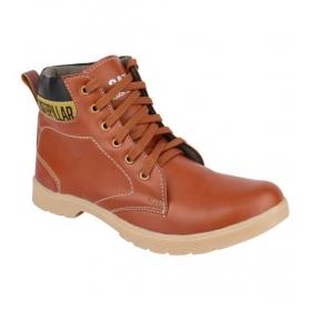 Sarva Mens Brown High Neck Shoes