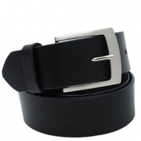 Men Formal Black Artificial Leather Belt