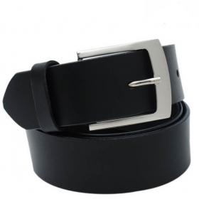 Men Formal Black Artificial Leather Belt