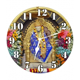 3d India Circular Analog Wall Clock - Sai Ram