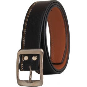 Men Casual Party Formal Black Artificial Leather Belt