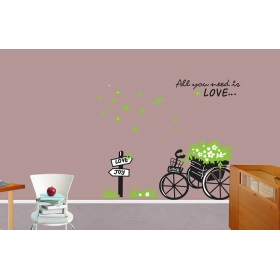 Ay722 Cycle Smart Look Wall Sticker  Jaamso Royals