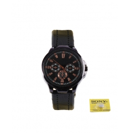 Rise N Shine Black Dial Dummy Chronograph Men's Analouge Watch