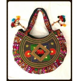 Handicraft Kutchi Maroon Sling Bags