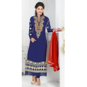Heena Khan Designer Semi Stitched Salwar Suit