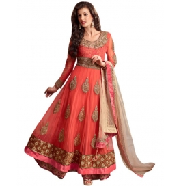 Orange Color Suit With Bottom And Dupatta