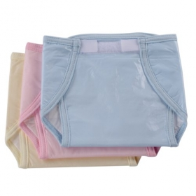 Baby Small Nappy U Shape Bothside Plastic Plain (multi Color)
