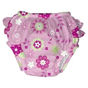 Ultimate Swim Diaper Size Medium 6-12 Mo, Pink Floral