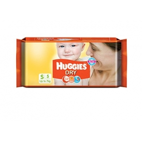 Huggies New Dry Diapers Small (5 Count)
