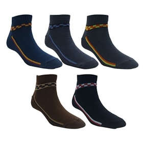 Footmate Men Designer Ankle Socks (5 Pair Pack)