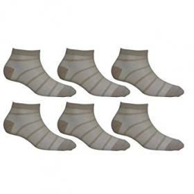 Footmate Socks Women Skin Stripped Fishnet Socks (pack Of 6)