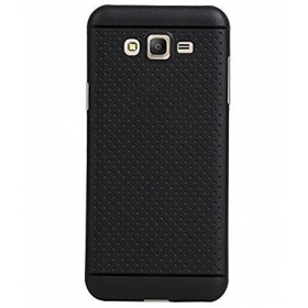 360* Protection Premium Dotted Designed Soft Rubberised Back Case Cover For Samsung Galaxy On 7 Pro -black