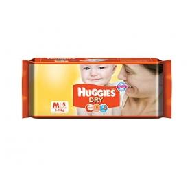 Huggies New Dry Diapers Medium (5 Count)