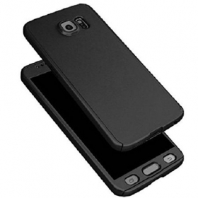 Black Color 360 Degree Full Body Protection Case Cover For Samsung Galaxy J7 Prime